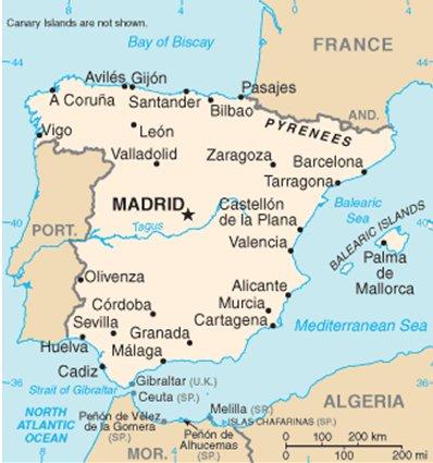 Espanja Costa Blanca Alicanten sijainti kartalla