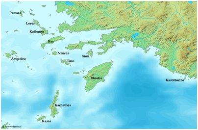 Dodekanesian saaret Aigeianmeri Kreikka