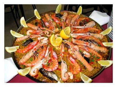 Malaga katkarapu-paella Costa del Sol aurinkorannikko loma matka