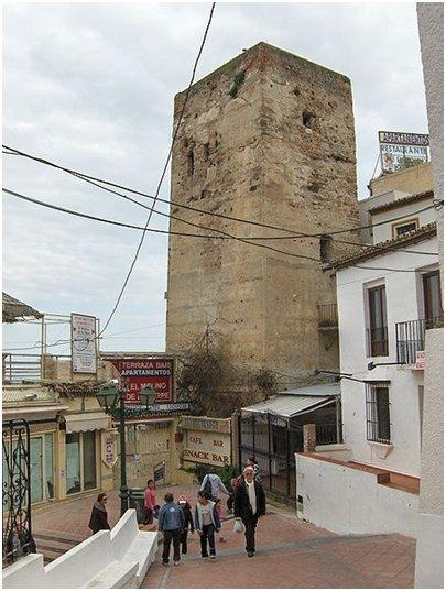 Espanja Costa del Sol Aurinkorannikko Malaga Torremolinos Torre de los Molinos torni