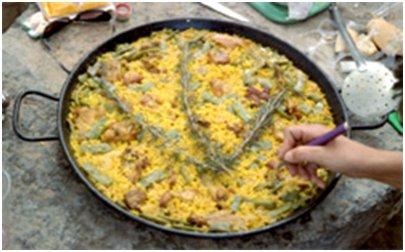 Espanjalaista ruokaa. Maukasta paellaa