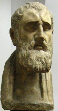 Kreikkalainen filosofi Zeno patsas