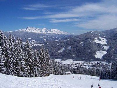 Flachaun laskettelurinnett� It�vallan Alpeilla loma kuva alpit