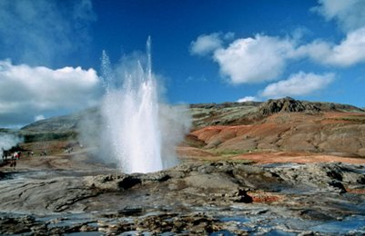 valokuva Haukadalur Strokkur geysiri Islanti loma matka