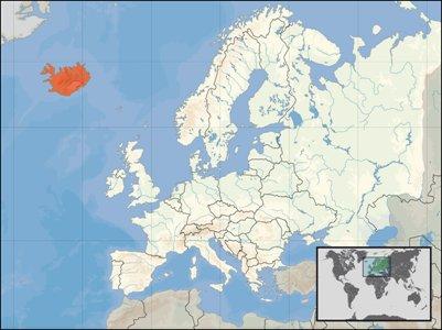 kartta Islanti sijainti