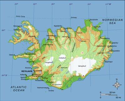 kartta Reykjavik Islanti sijainti