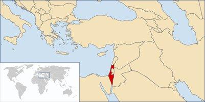 kartta Israel sijainti