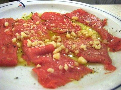 kuva Carpaccio keittiö italialainen alkuruoka loma matka