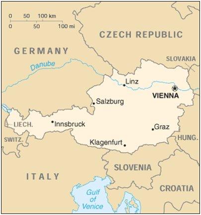 kartta kuva Alpit Bad Gastein Itävalta