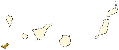 Espanja Kanariansaaret El Hierron saari sijainti kartta kuva