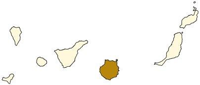 Espanja Kanariansaaret Gran Canaria sijainti kartta