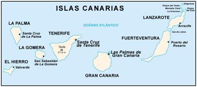 Espanja Kanariansaaret kartta kuva