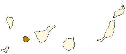 Espanja Kanariansaaret La Gomeran saari sijainti kartta