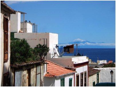 Espanja Kanariansaaret La Palma Santa Cruz de La Palma kujanäkymä