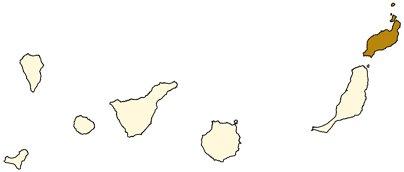 Espanja Kanariansaaret Lanzaroten saari sijainti kartta