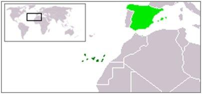 Espanja Kanariansaaret sijainti kartta kuva