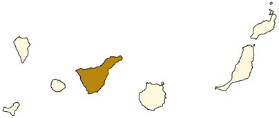 Espanja Kanariansaaret Teneriffan saari kartta kuva