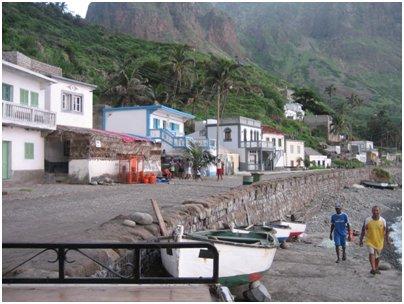 Kylä Bravan saarella loma Kap Verdellä kuva