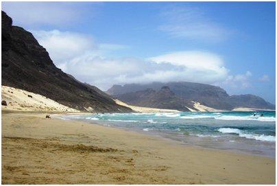 Kap Verde kuva loma matka São Vicente saaren hiekkarantaa Kap Verdellä