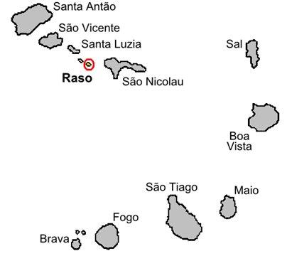 Kap Verde Rason saari sijainti kartta