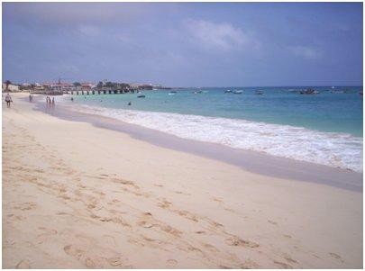 Kap Verde Sal hiekkaranta Santa Maria uimaranta