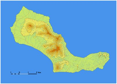 Kap Verde Santa Luzia saari sijainti kartta