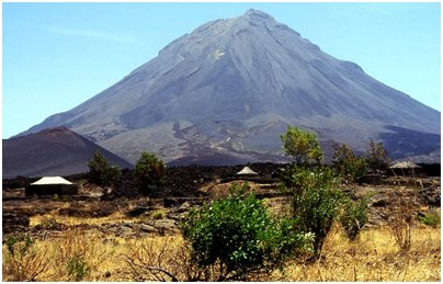 Kap Verde matka mount fogo vuori loma kuva tulivuori fog saari