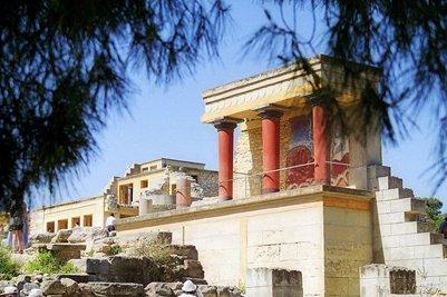 kuva Knossoksen palatsi Knossos Kreeta