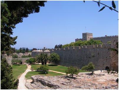 Kreikka Rodos vanhan kaupungin puutarha