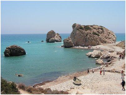 Afroditen Petra tou Romiou kallio Kypros Pafos matka