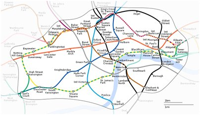 kuva Englanti Lontoon metrokartta