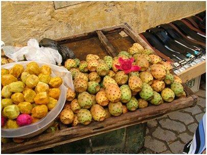 Viikunaopuntian hedelmiä