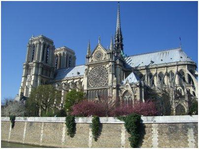 Ranska Pariisi Notre Damen katedraali loma matka Ranska