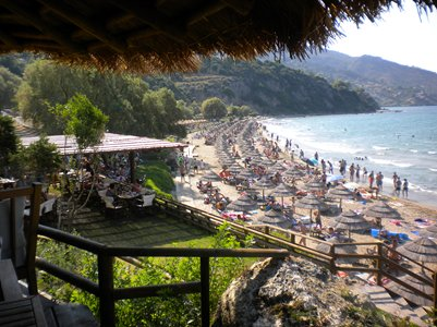 kuva Porto Azurron hiekkaranta Zakynthos Kreikka loma matka