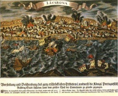 Portugalin pääkaupungin Lissabonin maanjäristys vuonna 1755