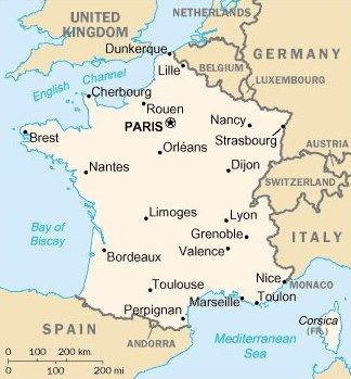 Ranska Pariisi sijainti kartta