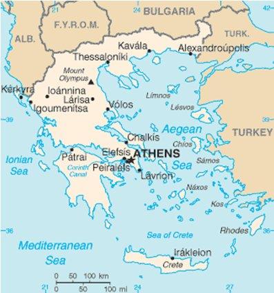 Rodos Kreikka sijainti kartta