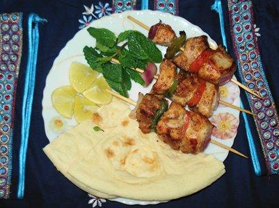kuva Venäläisen keittiön Saslik-lihavartaita ruoka venäjä