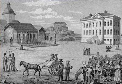 vanha kuva Suomi Helsinki 1800-luvulla