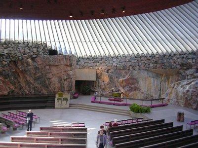 Temppeliaukion kirkko Helsinki Suomi