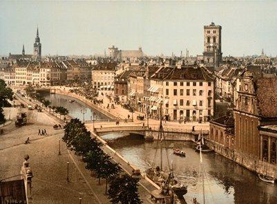vanha valokuva Kööpenhamina vuosina 1890-1900