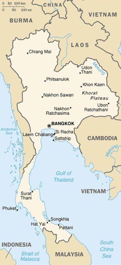 Phuket Thaimaa sijainti kartta kuva