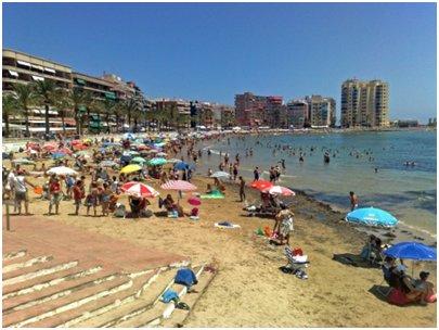 Alicante Costa Blanca Torrevieja Playa del Cura uimaranta