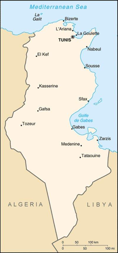 kartta Sousse Tunisia sijainti