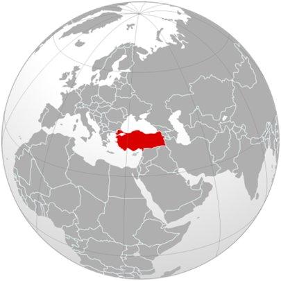 maailmankartta Turkki sijainti