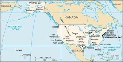 kartta New York USA Yhdysvallat sijainti