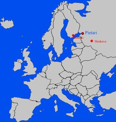 kartta Pietari Venäjä sijainti
